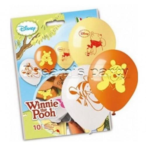 10 palloncini in lattice Winnie The Pooh