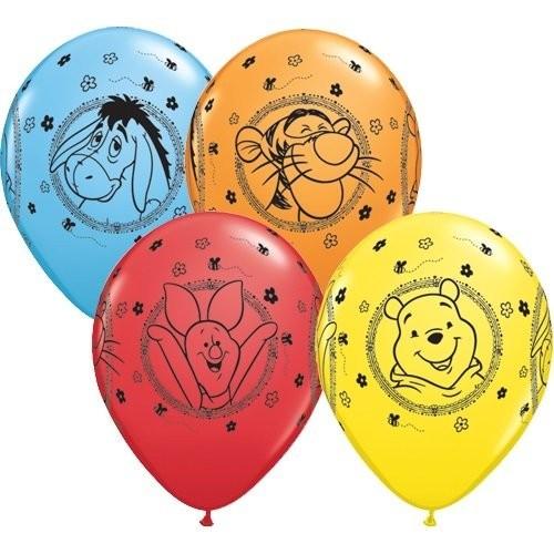 10 Palloncini colorati Winnie Pooh