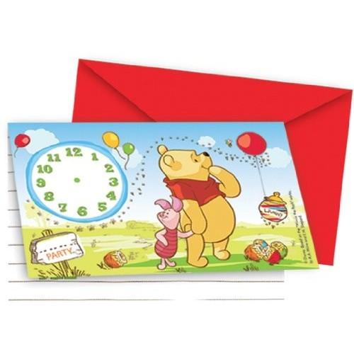 Inviti compleanno Winnie the Pooh