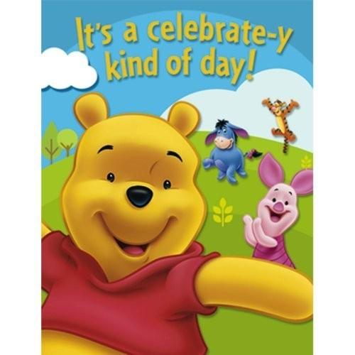 8 Cartoline inviti Winnie The Pooh