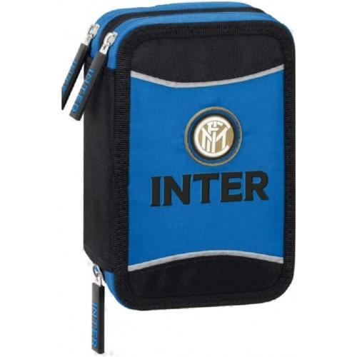 Astuccio Triplo F.C Inter con 3 zip, Prodotto Ufficiale