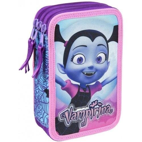 Astuccio 3 Zip Vampirina Originale Disney, per la scuola