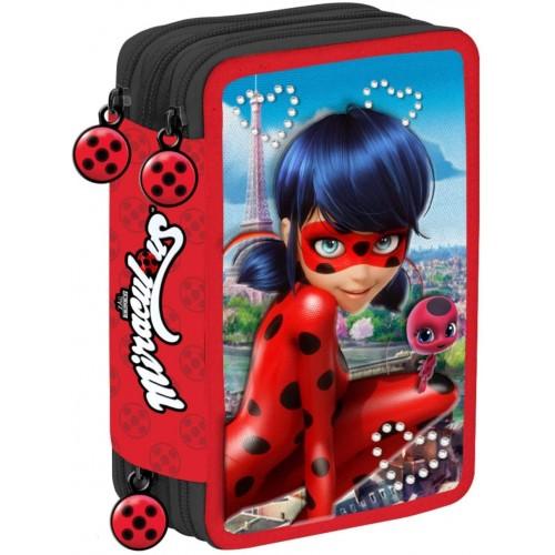 Astuccio Scuola Miraculous - Ladybug 3 Zip