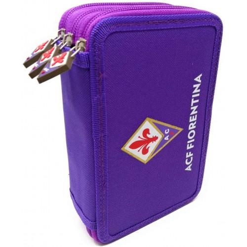 Astuccio A.C.F Fiorentina con 3 zip, Ufficiale
