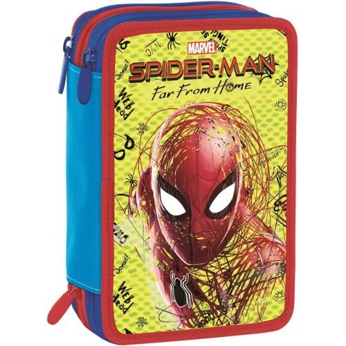 Astuccio 3 Zip Spider-Man - Marvel, Seven