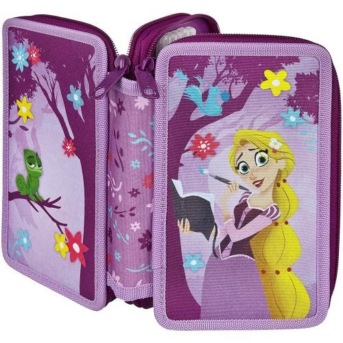 Astuccio Rapunzel - Disney, doppio, completo di accessori