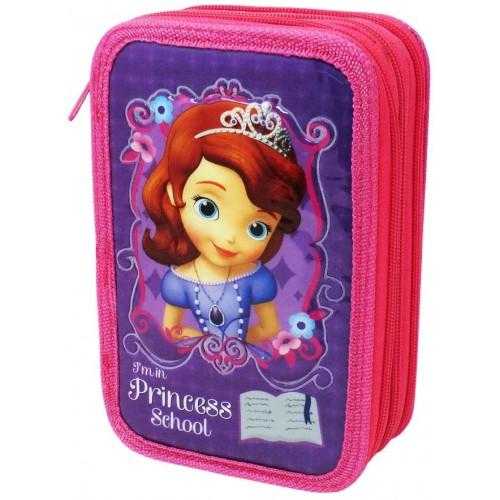 Astuccio Principessa Sofia Disney completo, 3 scomparti