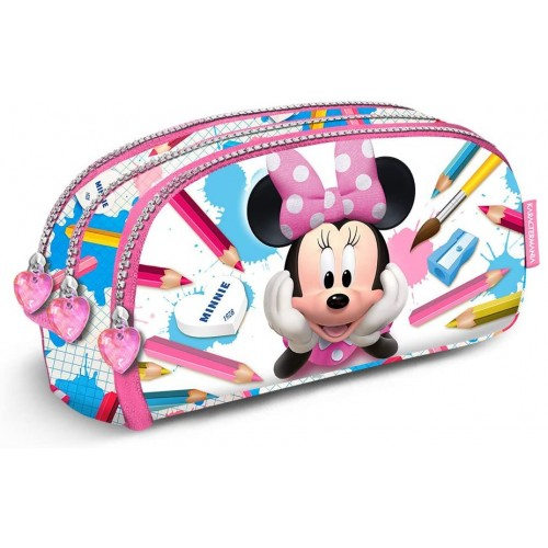 Astuccio borsello Minnie Disney con 3 scomparti