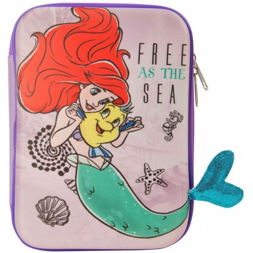 Astuccio Little Mermaid Ariel, Disney Princess Sirenetta 3D