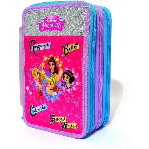 Astuccio Disney Princess 3 Zip - Seven Original