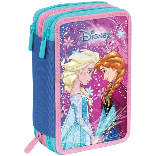 Astuccio 3 Zip Frozen Ice Magic, Disney - Seven