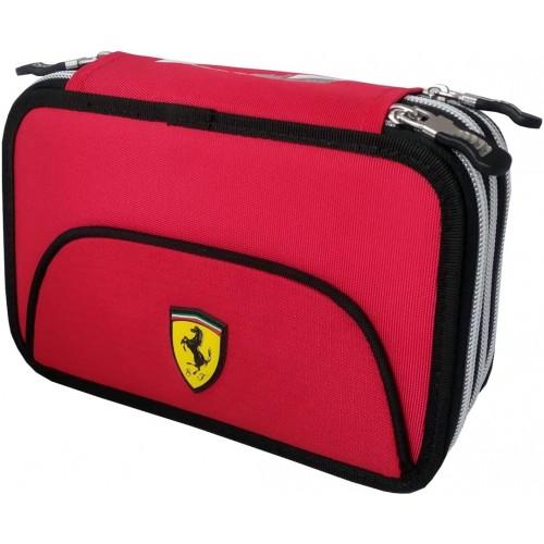 Astuccio Scuderia Ferrari 3 zip, originale, 2020/21