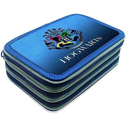 Astuccio Harry Potter 3 Zip Completo Di Cancelleria
