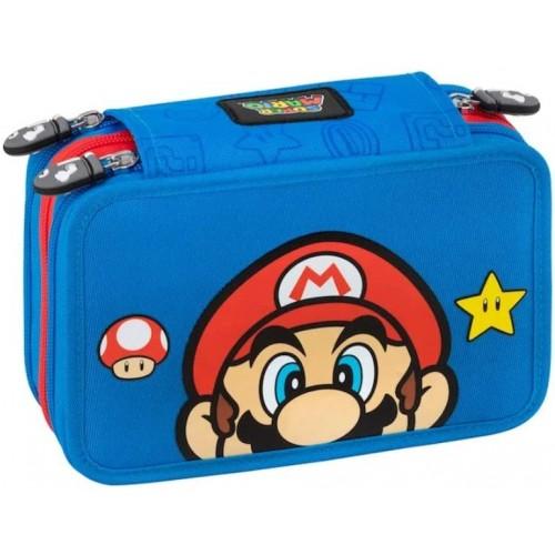 Astuccio borsello Super Mario Bros, 3 zip, per la scuola