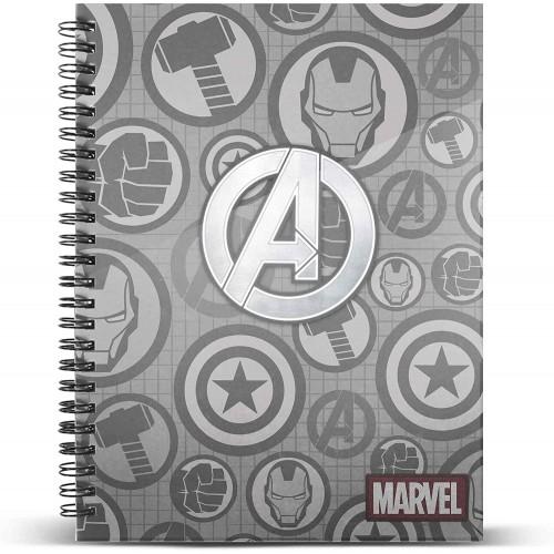 Quaderno a Quadretti A5 Avengers Assault, copertina rigida rilegato a spirale