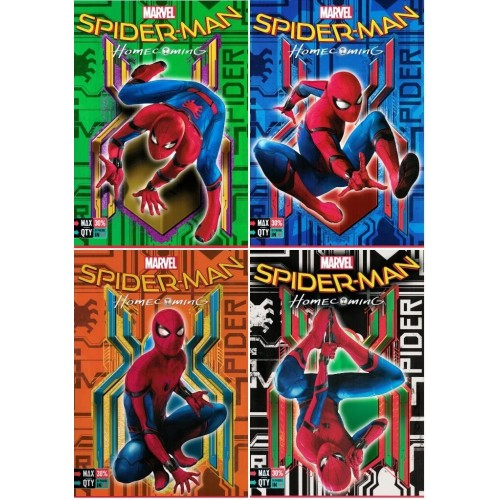 Set da 5 Quadernoni Maxi A4 Seven - Spiderman Homecoming