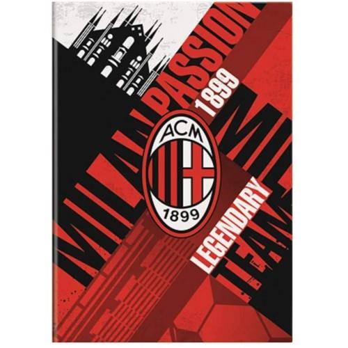 6 Quaderni AC Milan a quadretti da 4 mm, prodotto Ufficiale