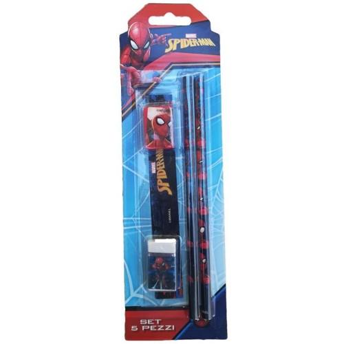 Set Spiderman scuola, cancelleria 5 Pezzi - Marvel
