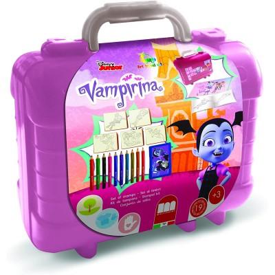 Valigetta timbrini Vampirina Disney, con Album, Puzzle e Matite