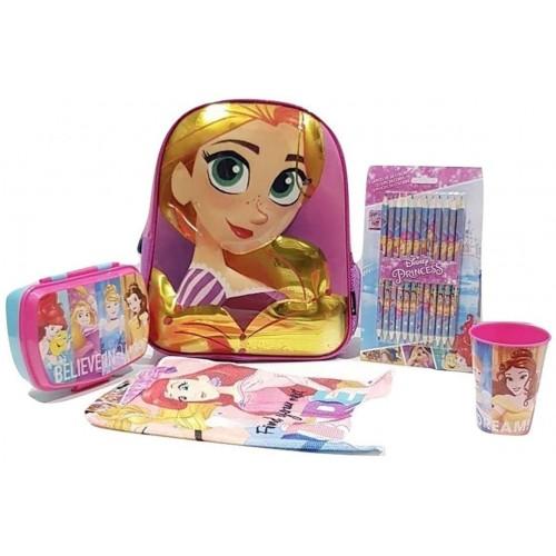 Set scuola Rapunzel, con zaino e accessori
