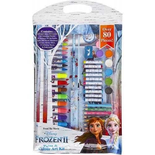 Pennarelli Frozen 2, 80 pezzi, set disegno