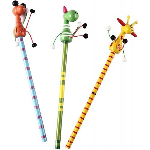 24 matite in legno serie Animali, 6 modelli assortiti
