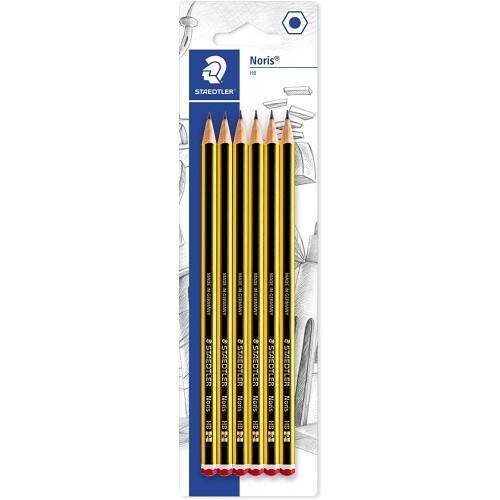 Confezione 6 matite HB, 2 mm, in grafite