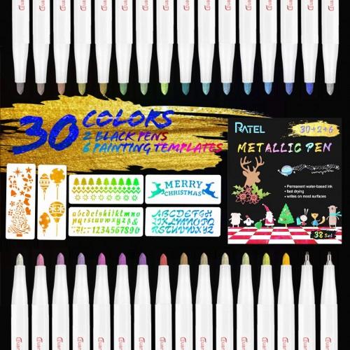 30 pennarelli metallici - Ratel, Inchiostro Premium
