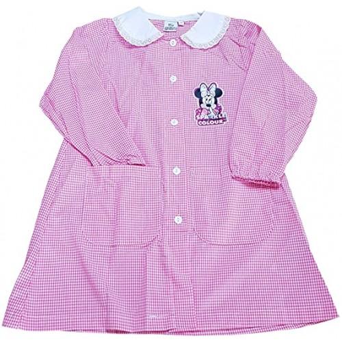 Grembiule scuola materna Minnie Disney, per bambine, colore rosa