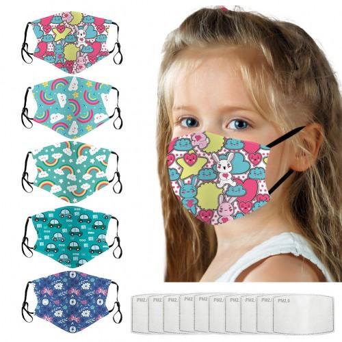 5 Mascherine di protezione lavabili - AUBIG, per bambini