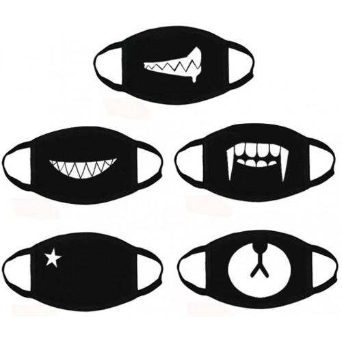 5 Mascherine per bambini traspiranti, unisex, grafiche assortite