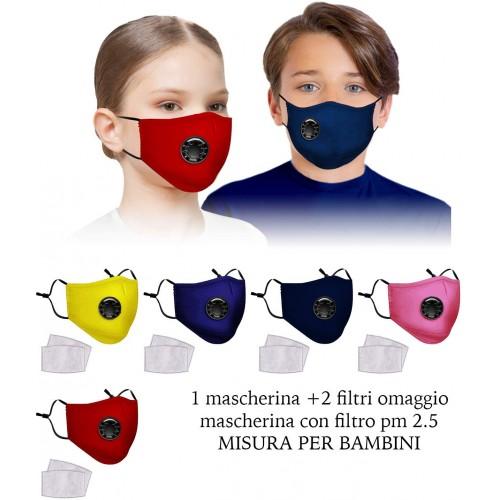 Mascherina con filtro removibile per bambini, 5 strati