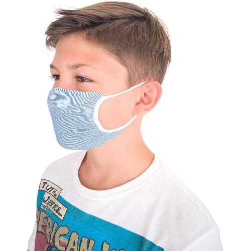 Set 3 mascherine Bambini 6-12 Anni Lavabili, doppio tessuto batteriostatico