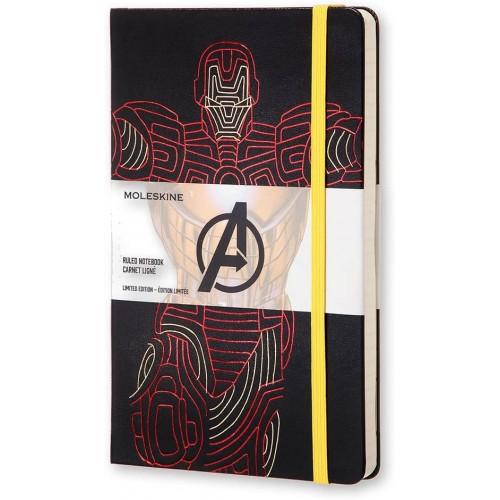 Moleskine Avengers Taccuino a righe con segnalibro omaggio
