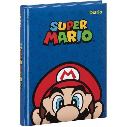 Diario Agenda Super Mario - 2020/2021, 12 Mesi - Blu