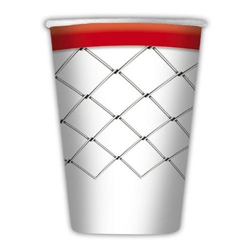 8 Bicchieri pallacanestro