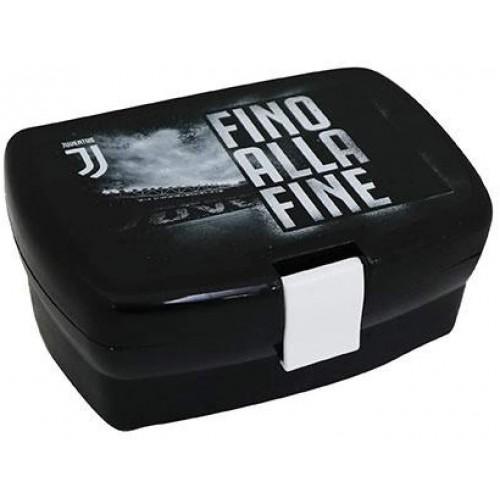 """Portamerenda F.C Juventus """"Fino alla fine"""", lunch box contenitore PVC"""