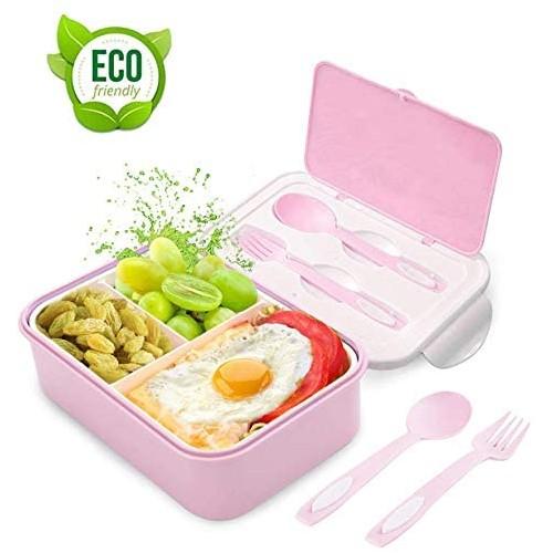 Lunch Box, Porta Pranzo, 3 scomparti con posate