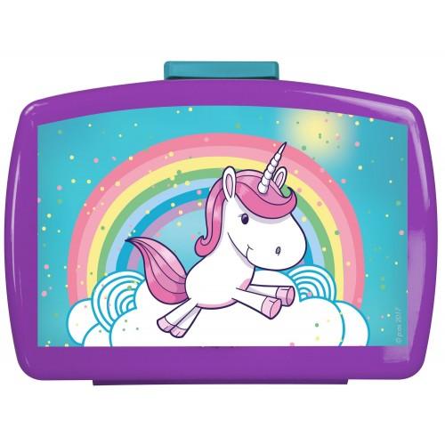 Portamerenda Unicorno, lunchbox, contenitore in PVC