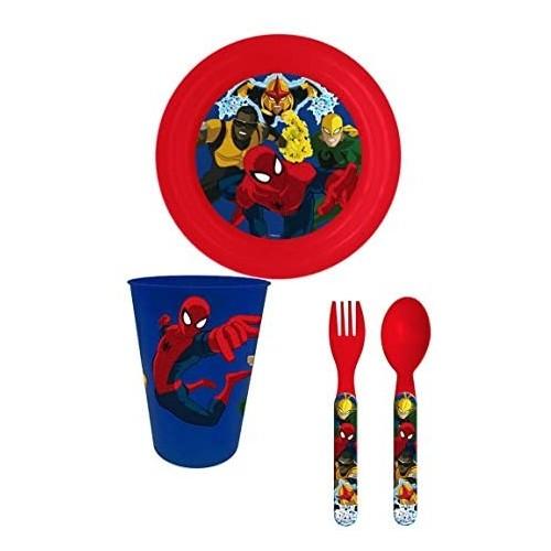 Set pappa Spiderman, 4 pezzi, Marvel original