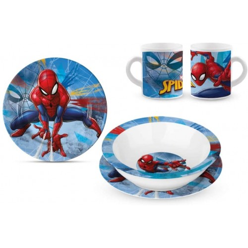 Set merenda o pranzo Spiderman in ceramica