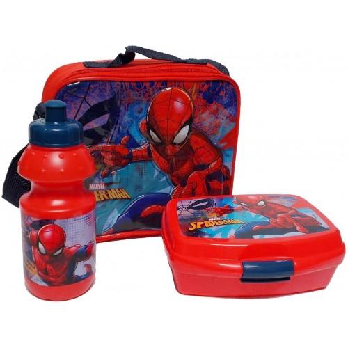 Set Pranzo Spiderman con borraccia e borsa