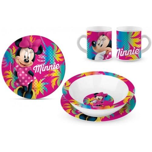 Set da Tavola Minnie Mouse Disney, 3 Pezzi