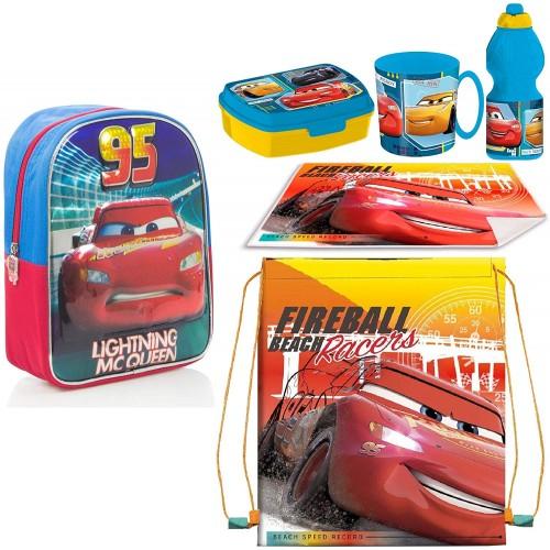 Set scuola Cars con set pranzo incluso - Disney