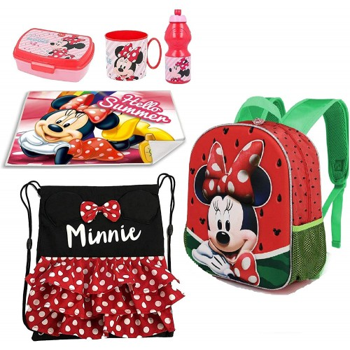 Coordinato scuola Minnie Disney, zaino e set pranzo