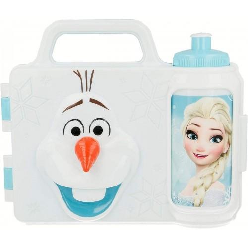 Set Pranzo 3D Olaf - Frozen Disney, con borraccia