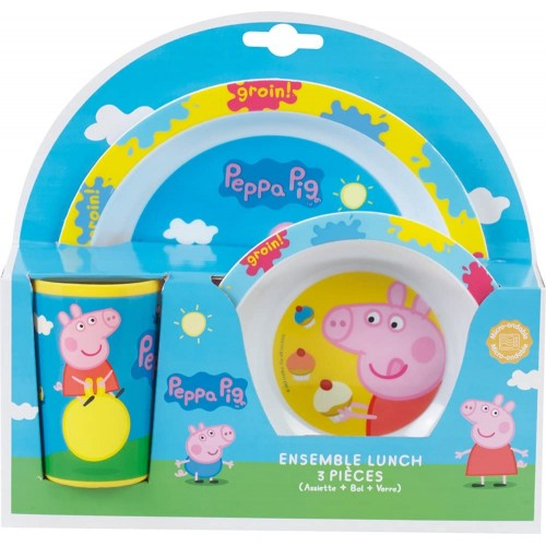 Set Pranzo Peppa Pig, confezione regalo