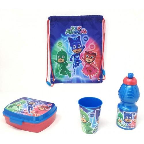 Set Pranzo Super Pigiamini - PJ Masks, 4 pezzi, per la scuola