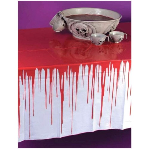 Tovaglia si sangue - Halloween, in PVC, decorazioni terrificanti