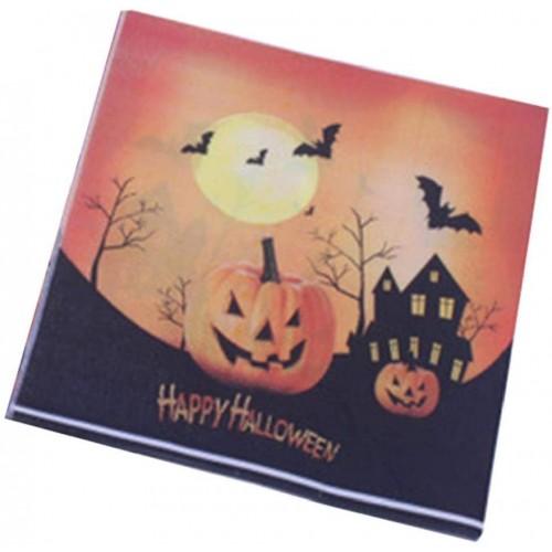 20 tovaglioli Halloween con zucca terrificante